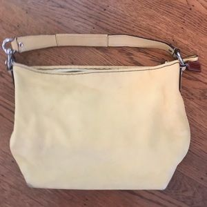Pale yellow coach leather purse